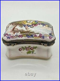 Antique French Faience Snuff Box Lille Enamelled 1767 Snuffbox France