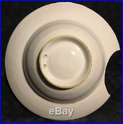Antique French Faience Tin Glazed Pottery Quimper Style Barbers Shaving Bowl