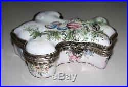 Antique French Faience Veuve Perrin Box circa 1786-1803