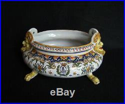Antique French Faience jardiniere by Henri Delcourt late19th/20th century