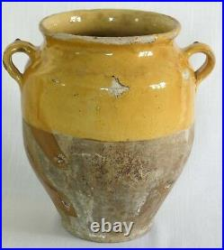 Antique French Glazed Pot A Confit Pottery Faience Terracotta Earthenware