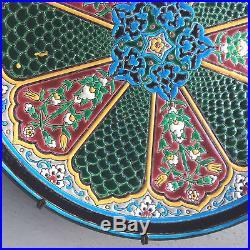 Antique French Jules Vieillard Bordeaux Cloisonné Faience Pottery Plate