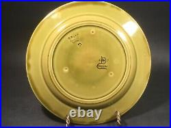 Antique French Majolica Faience Japanese Aesthetic Movement Plate c. 1800's Olive