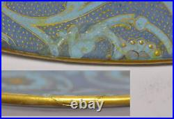 Antique French Montereau Faience Signed Portrait Charger Cabinet Plate