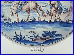 Antique French Nevers Italian Istoriato Maiolica Style Faience Continental Plate