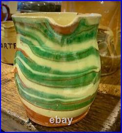 Antique French Pottery Pot Confit Glaze Earthenware Provencal Ironstone Faience
