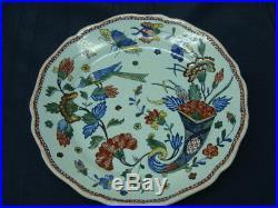 Antique French Rouen Faience Plate C. 1760 Cornucopia