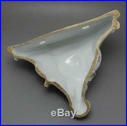 Antique French Veuve Perrin Faience Pottery Wall Bracket Marseilles France