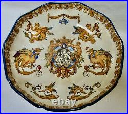 Antique Gien French Centerpiece Serving Bowl 10.5 Very Good Antique Condition