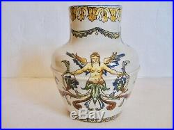 Antique Gien French Faience Pitcher