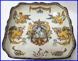 Antique Gien French Faience Serving Bowl 9.25 Near Excellent Antique Condition