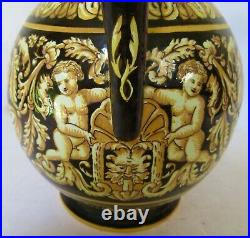 Antique Gien French Faience Water Pitcher 8.75 Tall Mint Antique Condition