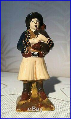 Antique HB Quimper French Faience Pottery Figurine