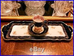 Antique Haviland Limoges Victorian Rare French Faience Porcelain Cup & Saucer