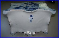 Antique Huge French Faience Arras'' Rococo Letter Holder circa 1820