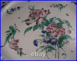 Antique Large 19thC St. Clement Faience Reticulated Charger Plate Fayenze Teller