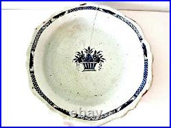 Antique Large French Faience Serving Dish 18th C