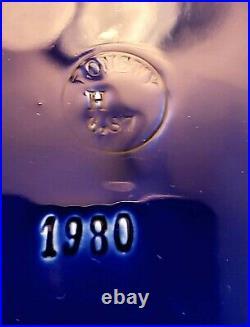Antique Longwy French Faience Cobalt Blue Mantle Clock Porcelain Enamel Works