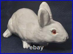 Antique Mesnil De Bavent Rabbit French Faience Earthenware Pottery