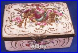 Antique Niderviller Faience Snuff Patch Pill Box Tabatiere Boite French France