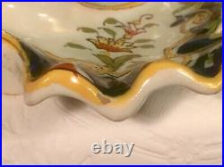Antique Rouen French Faience Candle Holder c. 1800's Chamber Stick