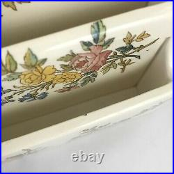 Antique SARREGUEMINES Louis XV LETTER HOLDER French FAIENCE 1875-90 AS-IS France
