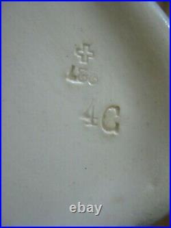Antique Sarreguemines Marines Faience French Blue & White White Tureen Hallmarks