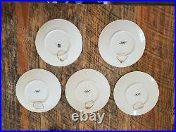 Antique Sarreguemines Story Plates Froment Richard Faience Pottery (lot of 5)