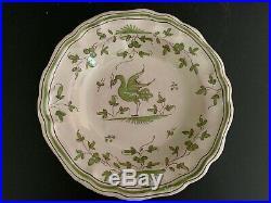 Antique Set 6 French Faience Martres Tolosane Jodra Moustiers Bowls Plates Vntg
