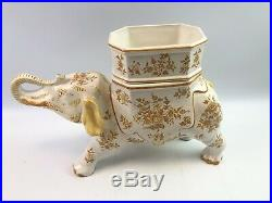 Antique Tiffany Faience Elephant Caviar Serving Dish / Centerpiece
