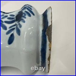 Antique Vases Pair Delft Vases Jars Covers 19th Century Dutch 31cm Dog of Foo