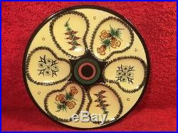 Antique Vintage Henriot Quimper French Faience Oyster Plate