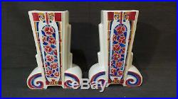 Armand Antique French Pair Vases Art Deco Terre Est Gorgeous French Faience