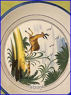 Assiette Faience Régionale Polychrome Earthenware antique french