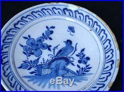 Assiette Faience XVIII Régionale Antique French Plate 18 ème A l'Oiseau