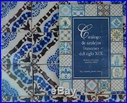 FRENCH FIREPLACE 84 ANTIQUE TILES PAS DE CALAIS DESVRES c1870