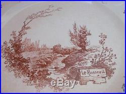 Faience Antique Choisy le Roi Louis XIII Six Large Plates Plates
