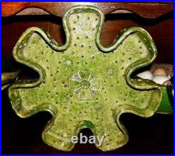 French Antique Art Pottery Garden Faience Earthenware Glaze Yellow Pot A Confit