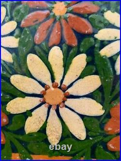 French Antique Confit Pot Art Pottery Plate Dish Earthenware Faience Blue Glaze