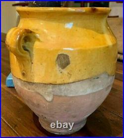 French Antique Confit Pot Pitcher Pottery Earthenware Faience Stoneware Glaze