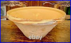 French Antique Confit Pot Pottery Glaze Earthenware Vessel Faience Free Shipping