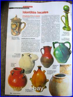 French Antique Pottery Confit Earthenware Faience Souflée Terrine Glazed Bowl
