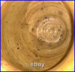 French Antique Pottery Confit Pot Earthenware Vessel Terracotta Glazed Faience
