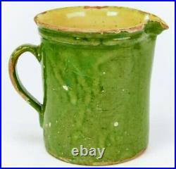 French Antique Pottery Confit Pot Vessel Water Jug Earthenware Glazed Faience