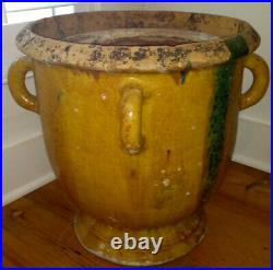 French Antique Pottery Earthenware Stoneware Pot Confit Faience Marriage Pitcher