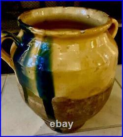 French Antique Pottery Glaze Ironstone Faience Stoneware Earthenware Confit Pot
