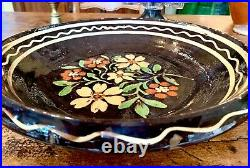 French Confit Pot Earthenware Redware Alsace Antique Faience Pottery Dish Plate