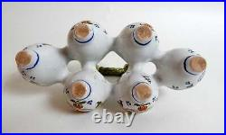 French Desvres Faience Egg Server Hand Painted