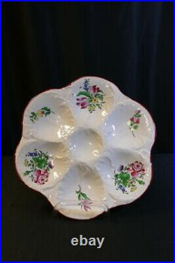 French Faience Oyster Plate by K&G of Luneville c. 1900 RARE ANTIQUE