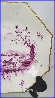 French Faience Veuve Perrin Marseille, France. 1748 1803 Plate